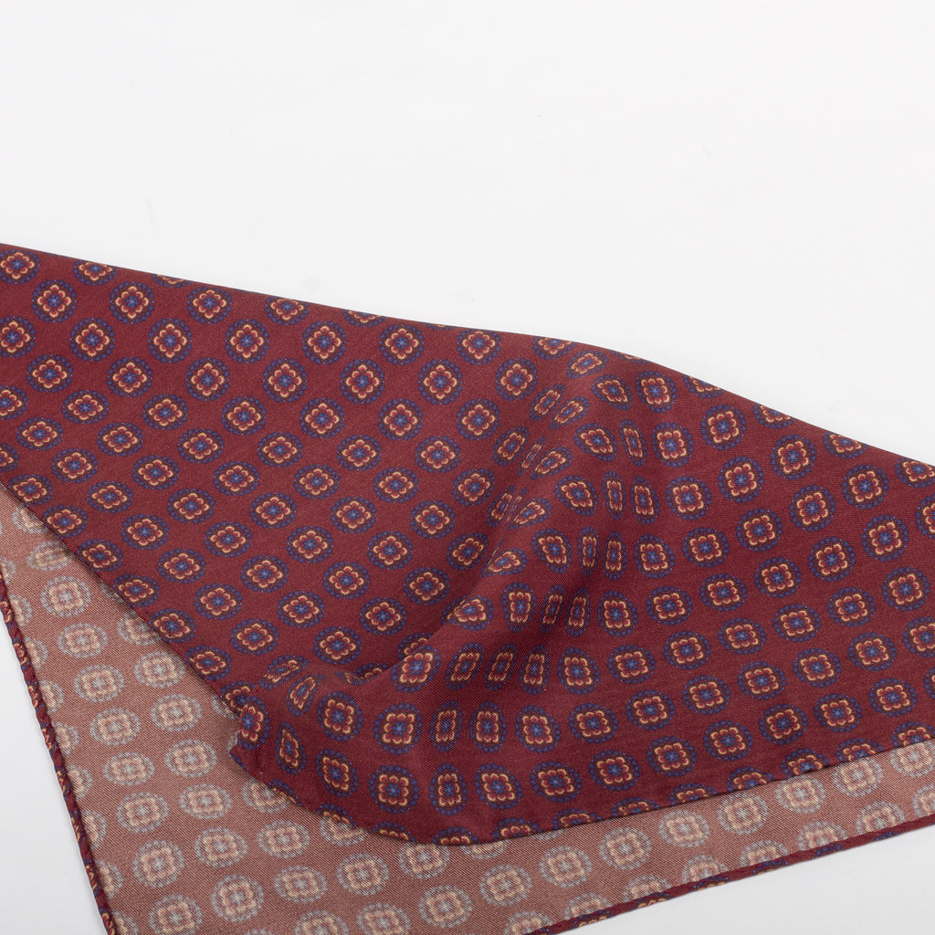 Fumagalli Pocket Square Lusso Red Reverse