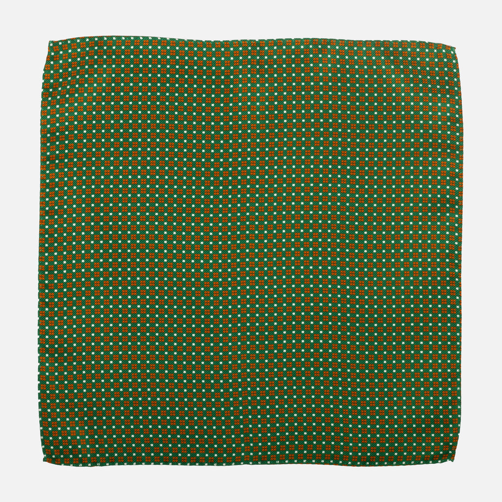 Fumagalli Pocket Square Vocce Green Front