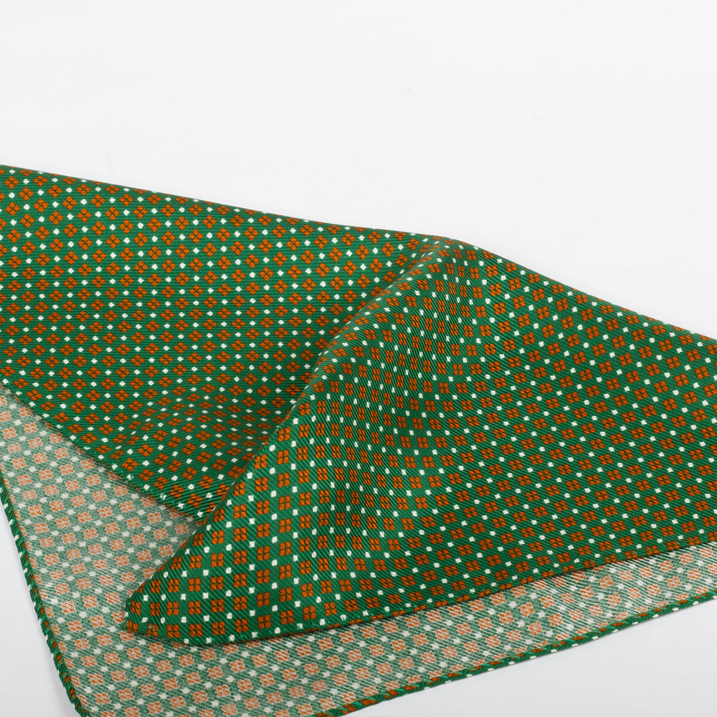 Fumagalli Pocket Square Vocce Green Reverse