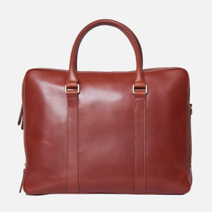 La Portegna Fat Carter Full Grain Leather Briefcase in Sol Back