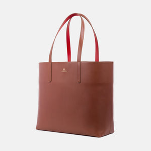La Portegna Olivia Sol Full Grain Leather Totebag Side