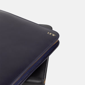 La Portegna Pablo Black Full Grain Leather Portfolio with Emboss Personalisation