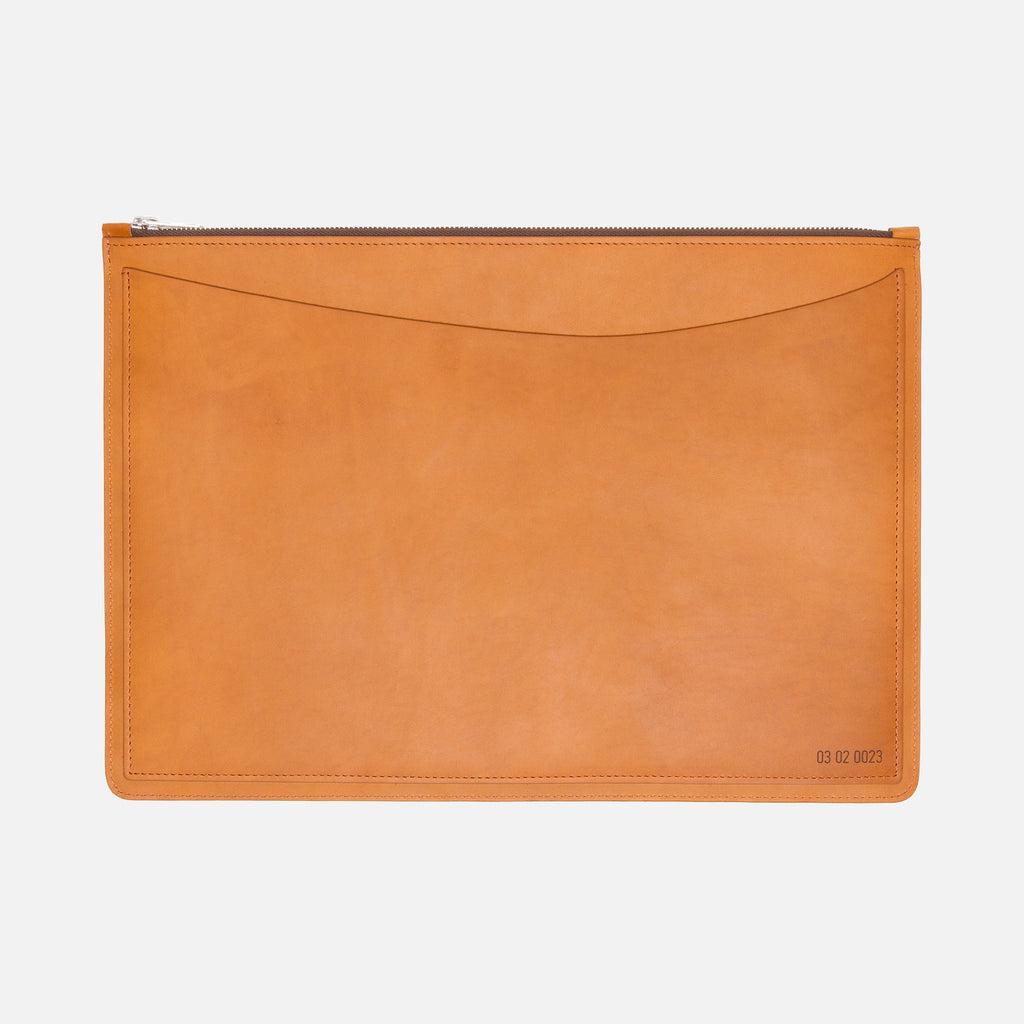 Le Feuillet La Pochette à Main Medium Cognac Back