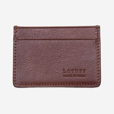 Lotuff Credit Card Wallet Chestnut Front