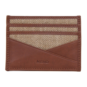 M/S Cardholder Cuoio/Oat