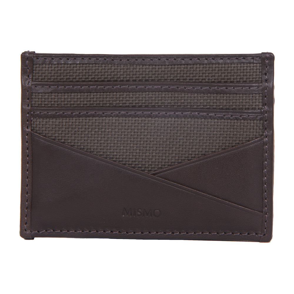 M/S Cardholder Dark Brown/Army Green