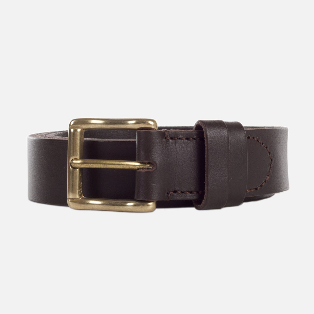 Mismo Classic Belt Dark Brown Front