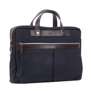 Mismo M/S Office Navy/Dark Brown Front Slanted