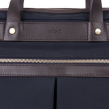 Mismo M/S Office Navy/Dark Brown Front Close-up