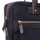 Mismo M/S Office Navy/Dark Brown Side Close-up