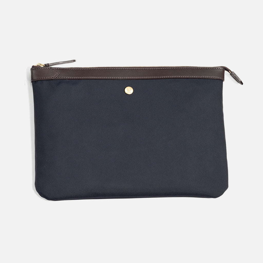 M/S Pouch Navy/Dark Brown