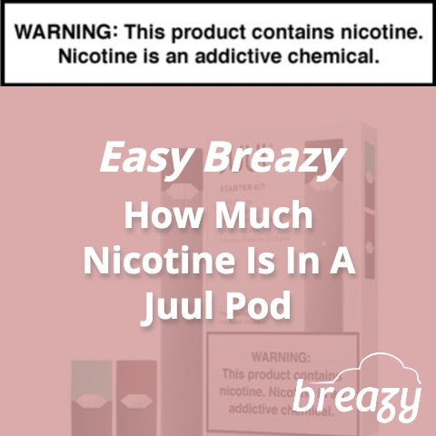 How Much Nicotine Is In A Juul Pod