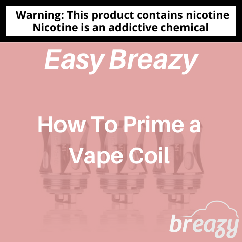 How to prime a vape coil