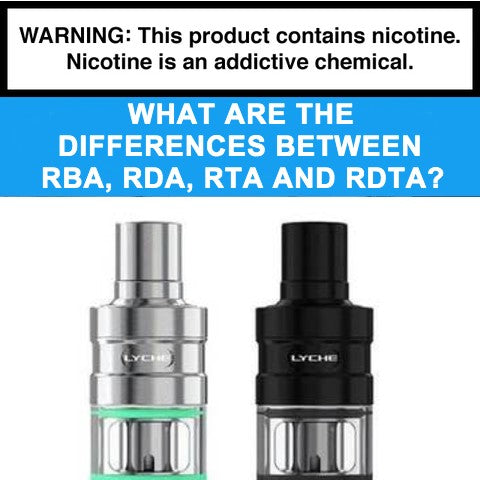 What are the differences between RBA, RDA, RTA and RDTA?