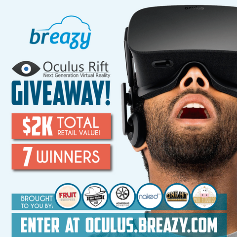 Breazy.com oculus giveaway + 25% Off Sale