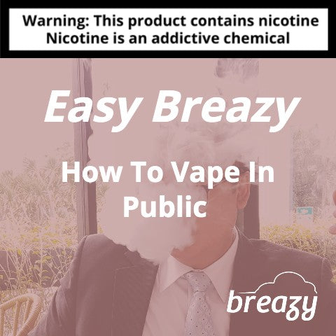 how to vape in public