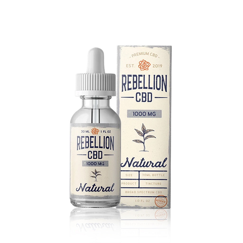 Natural CBD Tincture - Rebellion CBD