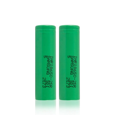 INR 18650 2500mah Battery (2 Pack) - Samsung