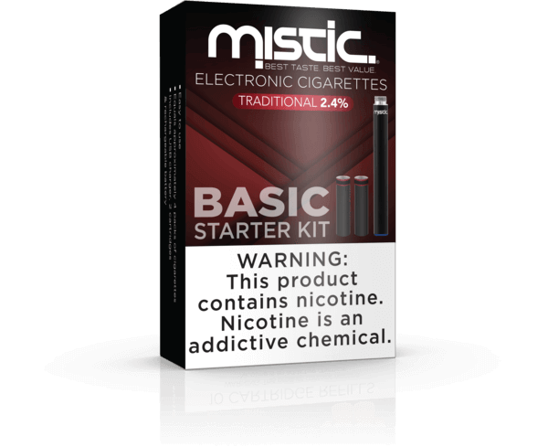 Basic Traditional Black Edition Disposable Starter Kit - Mistic