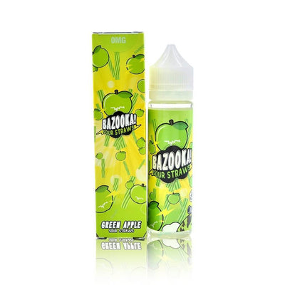 Green Apple Sour Straws - Bazooka Sour Straws E Liquid