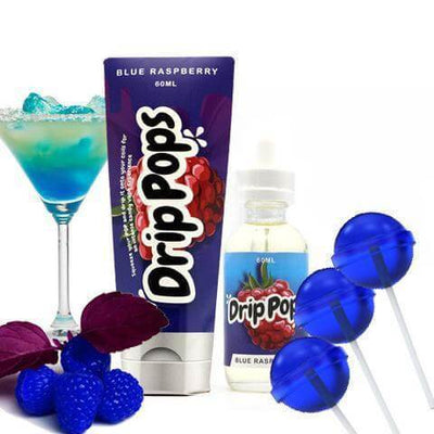Blue Raspberry Drip Pops - Vape 7 Daze - E Juice - Breazy