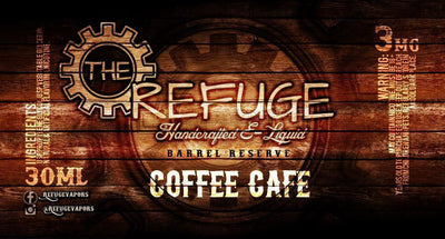 Coffee Cafe' - The Refuge Barrel Reserve E Liquid - E Juice - Breazy