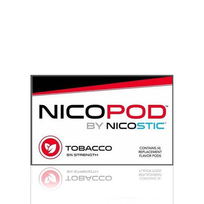 Tobacco Nicopod Replacement Pods (4 Pack) - Nicostic