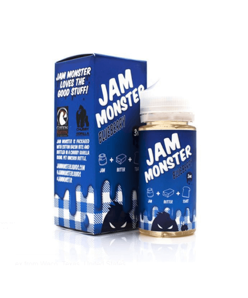 Blueberry - Jam Monster E Liquid - E Juice - Breazy
