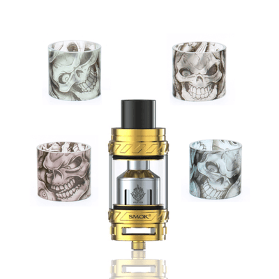 Custom Painted TFV12 Cloud Beast King Replacement Glass - Skulls - Vape Central Group - Accessories - Breazy