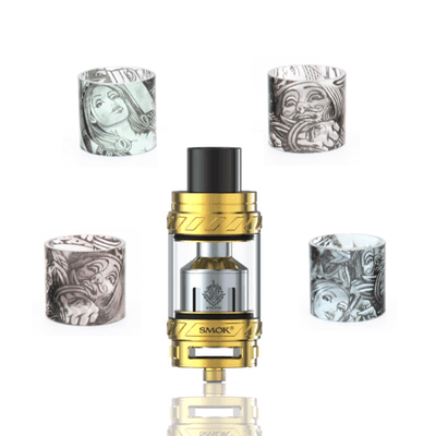 Custom Painted TFV12 Cloud Beast King Replacement Glass - Casino - VCG Hip Squad Customs