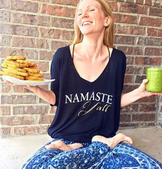 namaste y'all _ ladies tees_ sun lovin roots