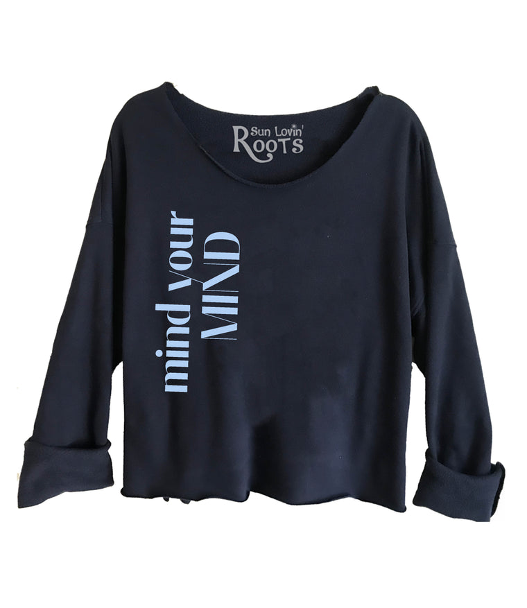 'Mind Your Mind' Raglan Boyfriend Sweatshirt