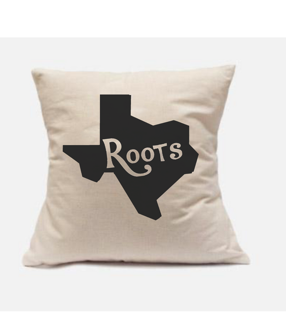 'Texas Roots' Throw Pillow