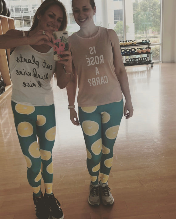 The Frankie Leggings: Lemon Party