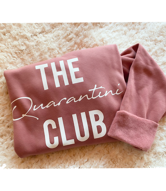 'The Quarantini Club'  Raglan Boyfriend Sweatshirt