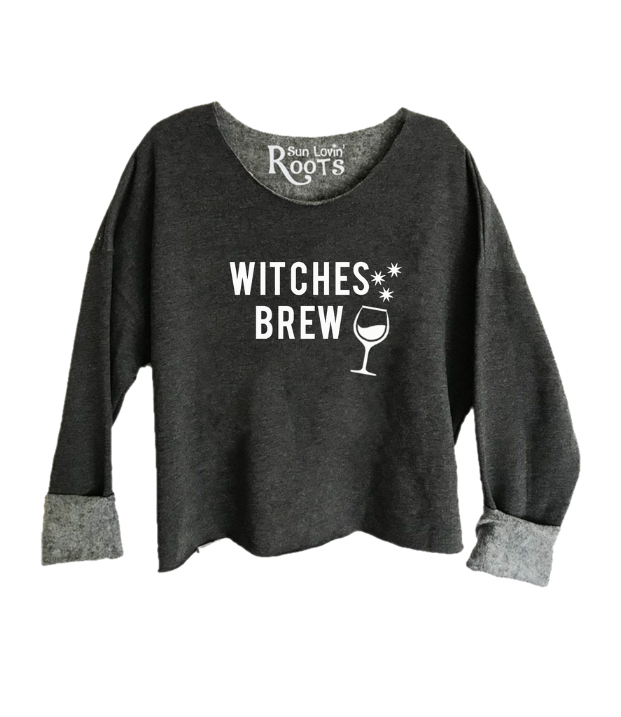 'Witches Brew' Raglan Boyfriend Sweatshirt