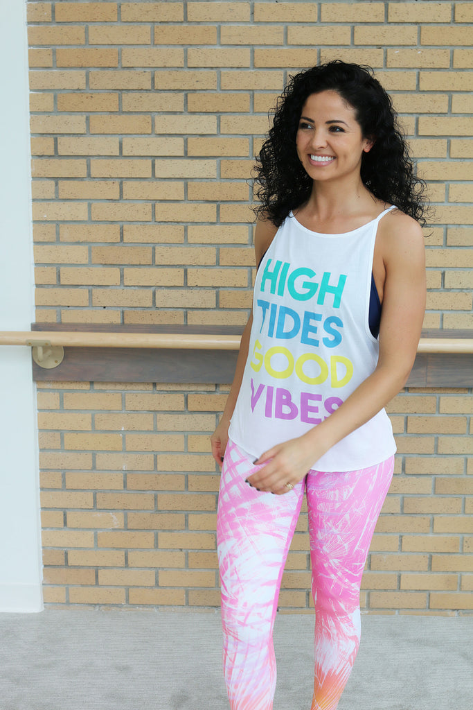 'High Tides, Good Vibes' Selena Tank
