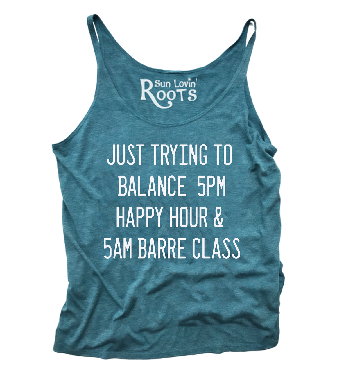 'Balancing Act- Barre' Willow Slouchy Tank
