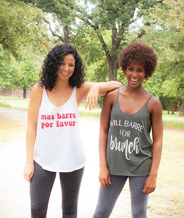 'Mas Barre Por Favor' Willow Slouchy Tank