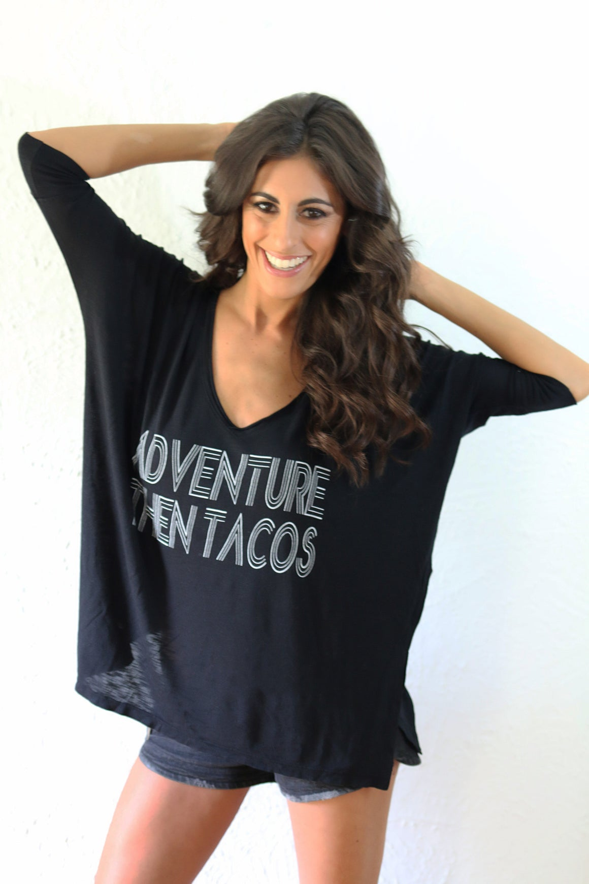 'Adventure then Tacos' Gracie Tee