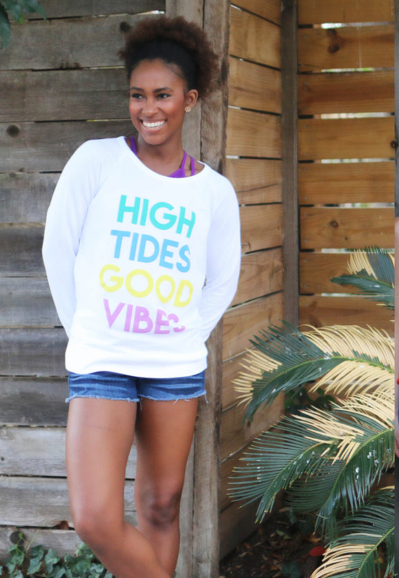 'High Tides, Good Vibes' Vintage Weekender Sweatshirt
