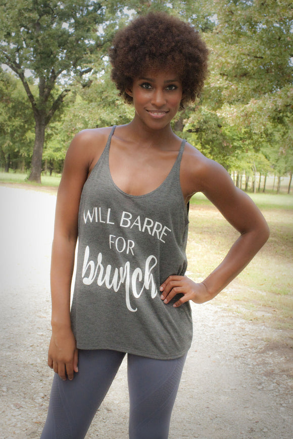 'Will Barre For Brunch' Willow Slouchy Tank