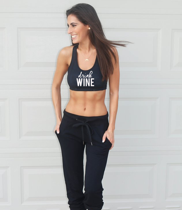 'Drink Wine' Beckham Bra