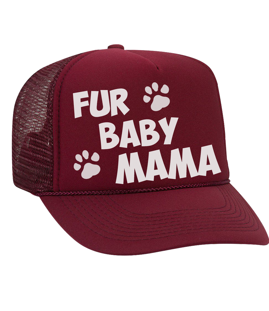 The Dolly Trucker Hat: 'Fur Baby Mama'