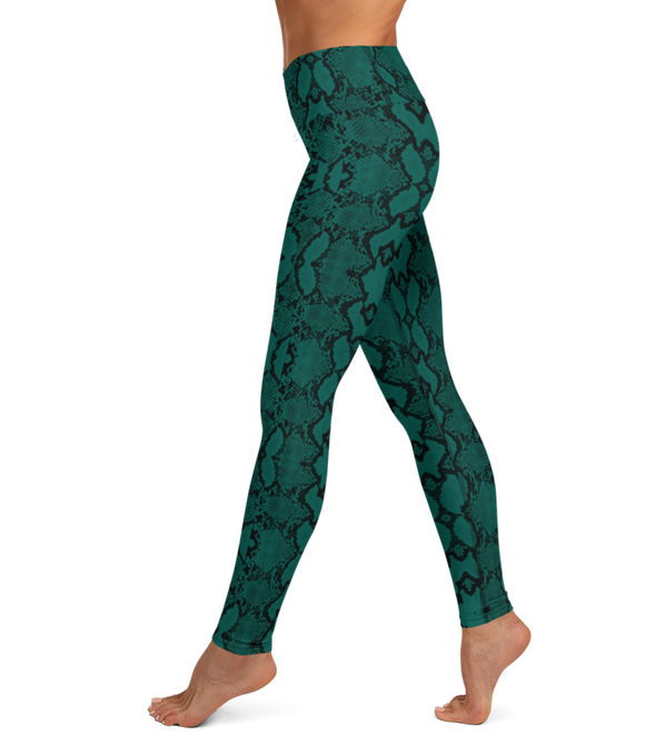 The Frankie Legging: Snake-A-Thon (Green)