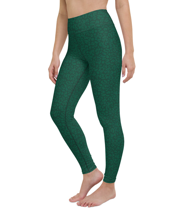 The Frankie Legging: Green Leopard