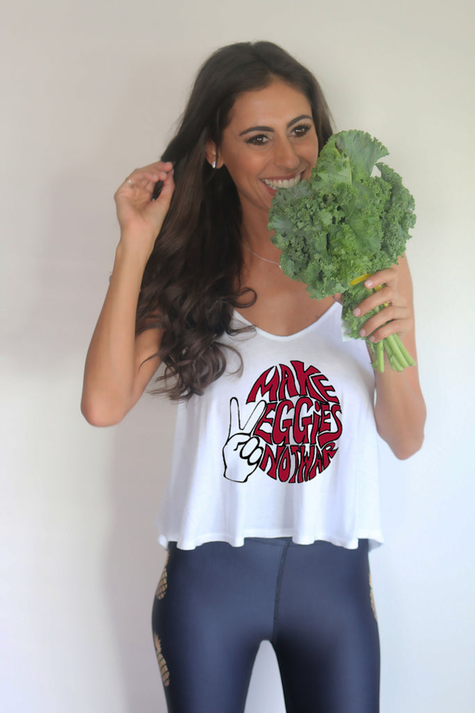 'Make Veggies, Not War' Luna Tank
