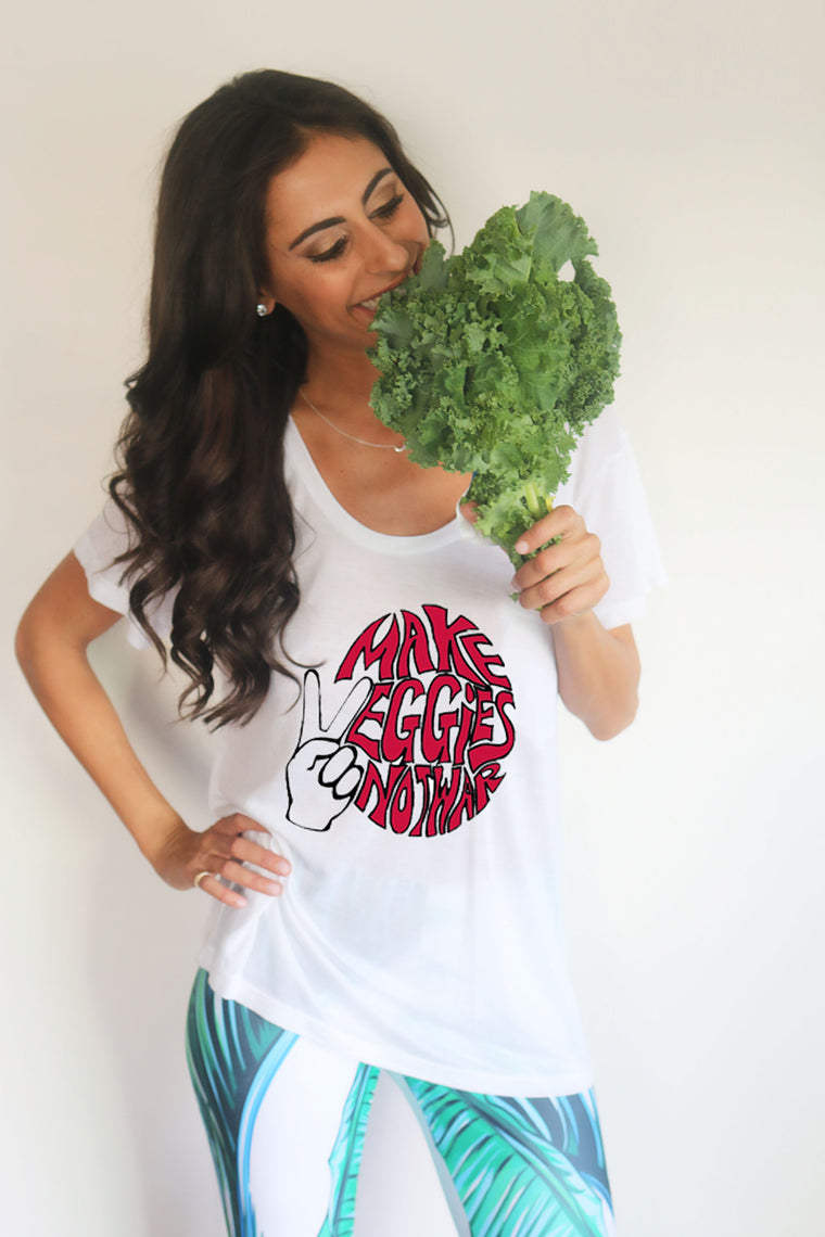 "'Make Veggies, Not War"" Parker Boyfriend Tee"
