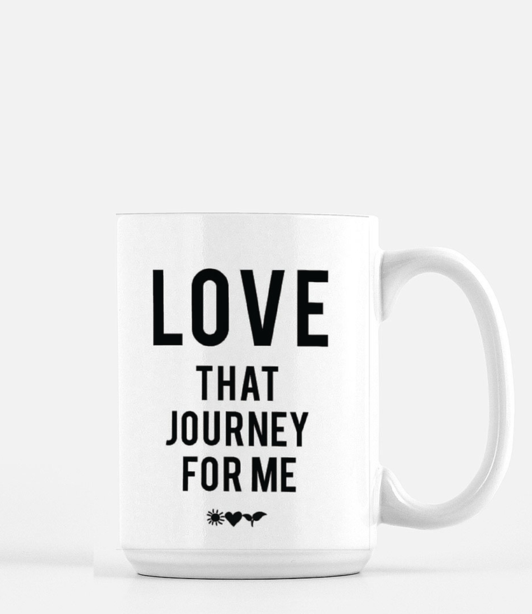 'Love That Journey' Mug