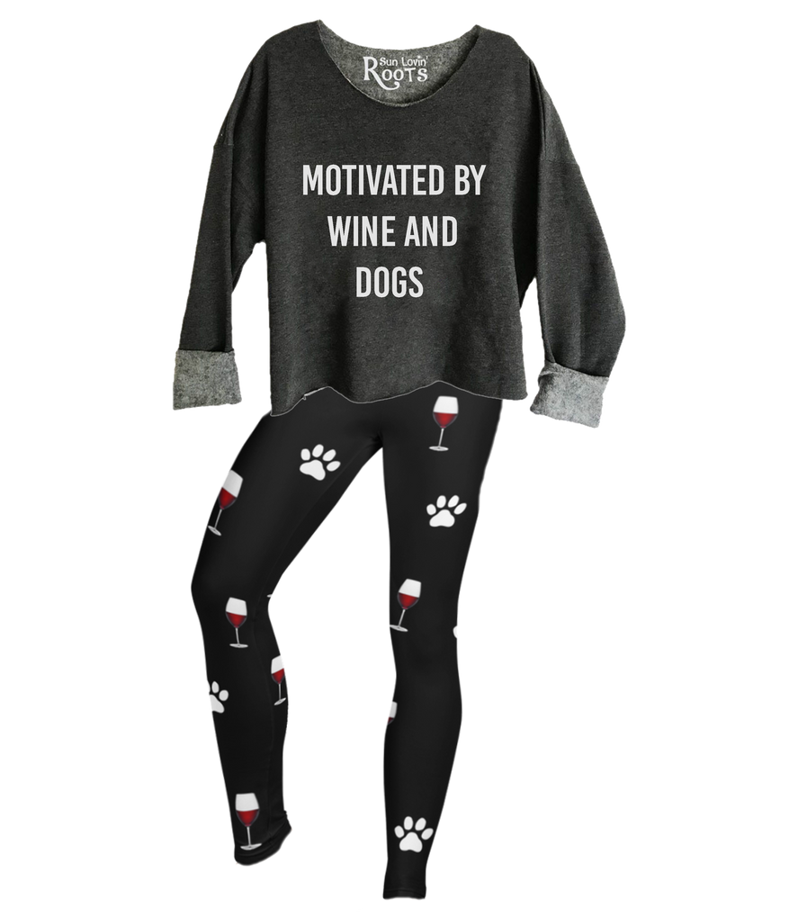 'Motivated By Wine and Dogs' The Raglan